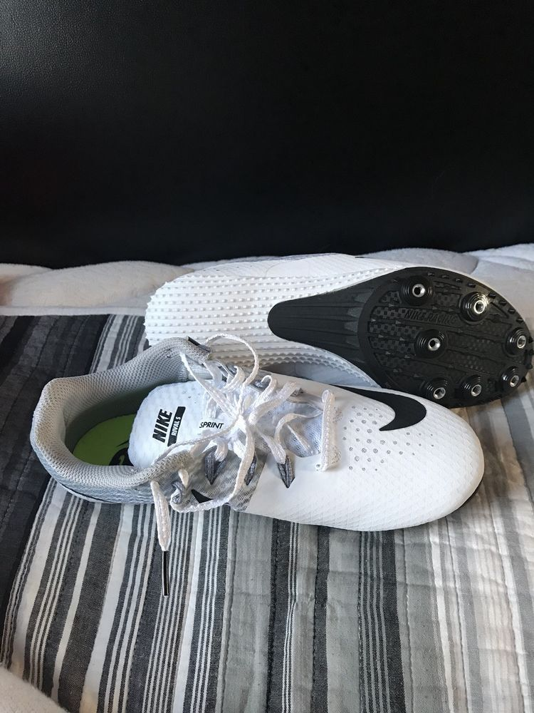 1832b33f84e BRAND NEW!!! Nike Zoom Rival S 8 Men Spikes Sprint Shoes White Size ...