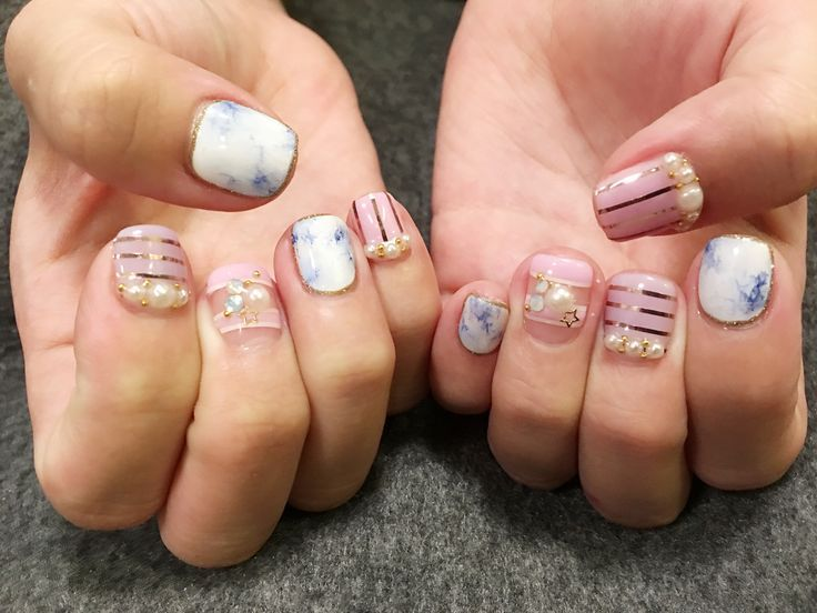 Japanese Nail Art With Marble Japanese Nail Art Japanese Nails