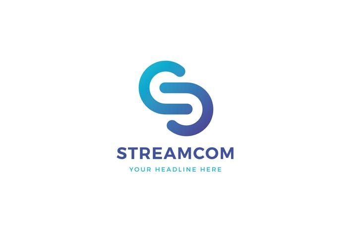 Streamcom S C Letter Logo Template By Museframe