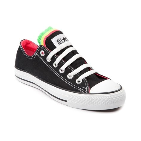 caf0a4acf88620 Shop for Converse All Star Lo Multi Tongue Sneaker in Black Neon at  Journeys Shoes. Shop today for the hottest brands in mens shoes and womens  shoes at ...