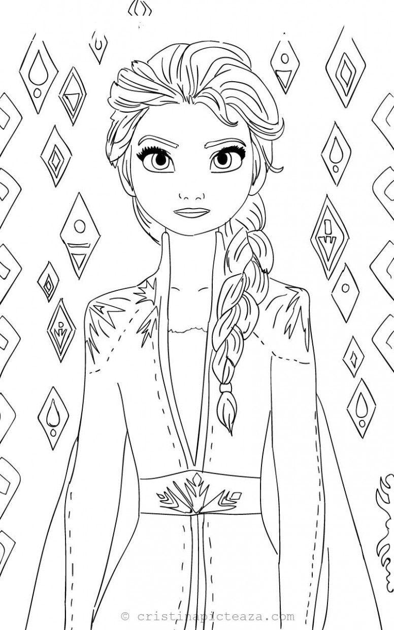 12 Elsa Painting Pages en 2020 Frozen para colorear