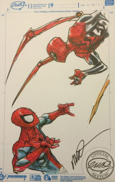 Spider Man And Superior Spider Man By Humberto Ramos Humberto