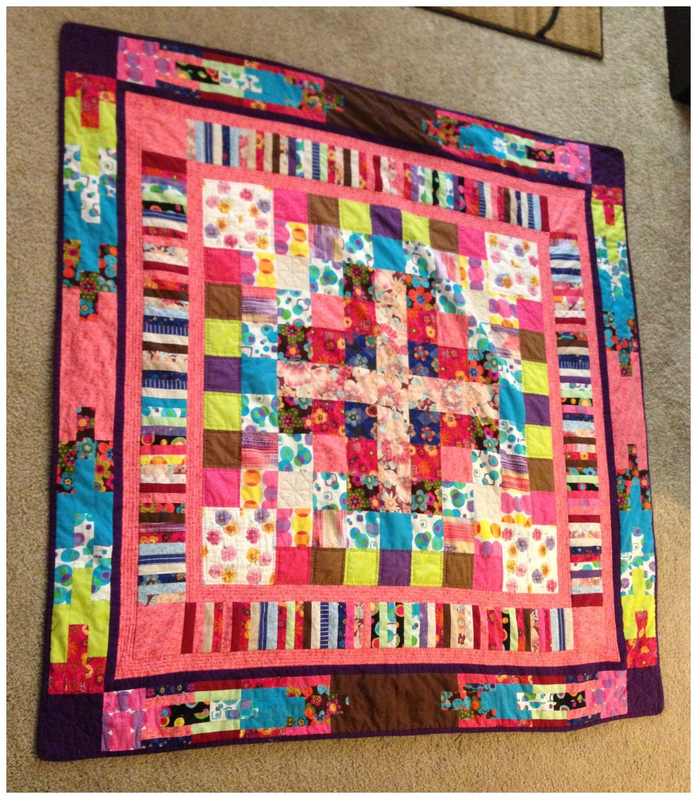 Quilt from remnants of old hospital scrubs