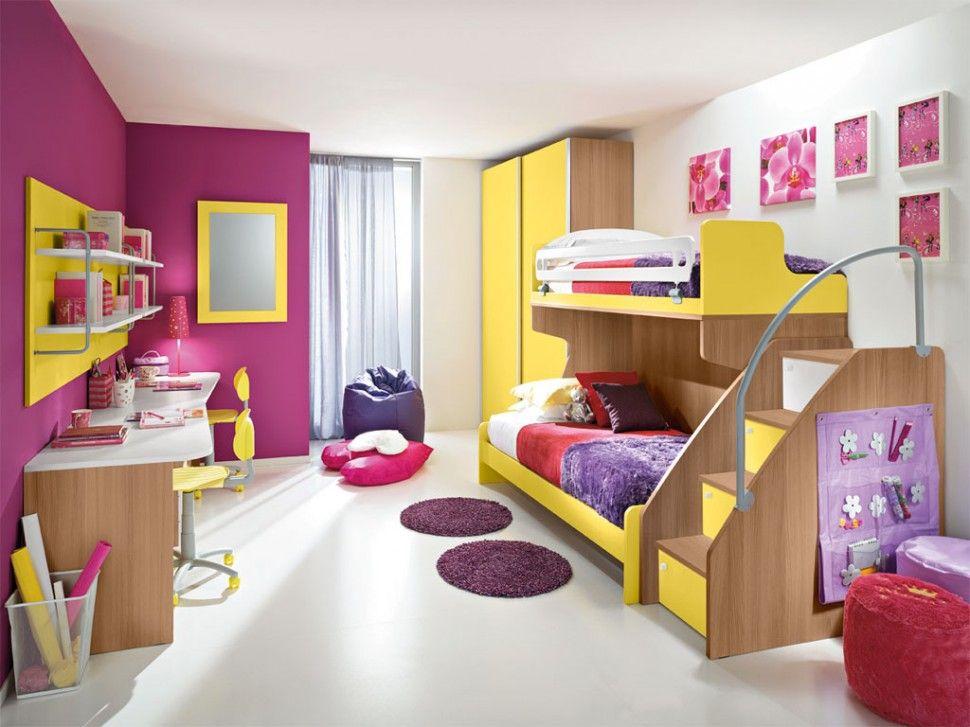 Camerette eremes scrivania in olmo bianco e mimosa for Design delle camere dei bambini