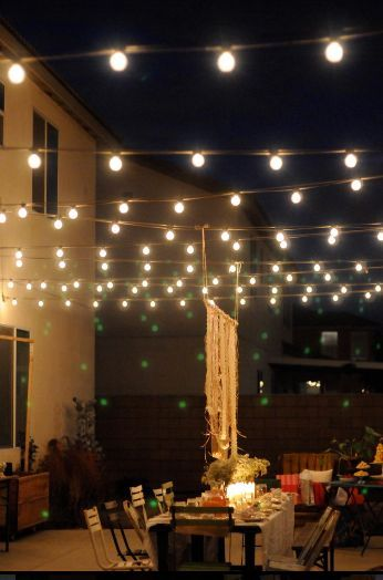How To Decorate For A Home Wedding Outdoor Patio Lights Backyard Lighting Patio Lighting