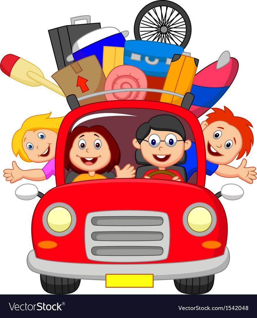 Vector Illustration Of Cartoon Family Traveling With Car Download A Free Preview Or High Quality Adobe Illustrator Ai Eps Pdf And High Resol Sinh Nhật Bup Be