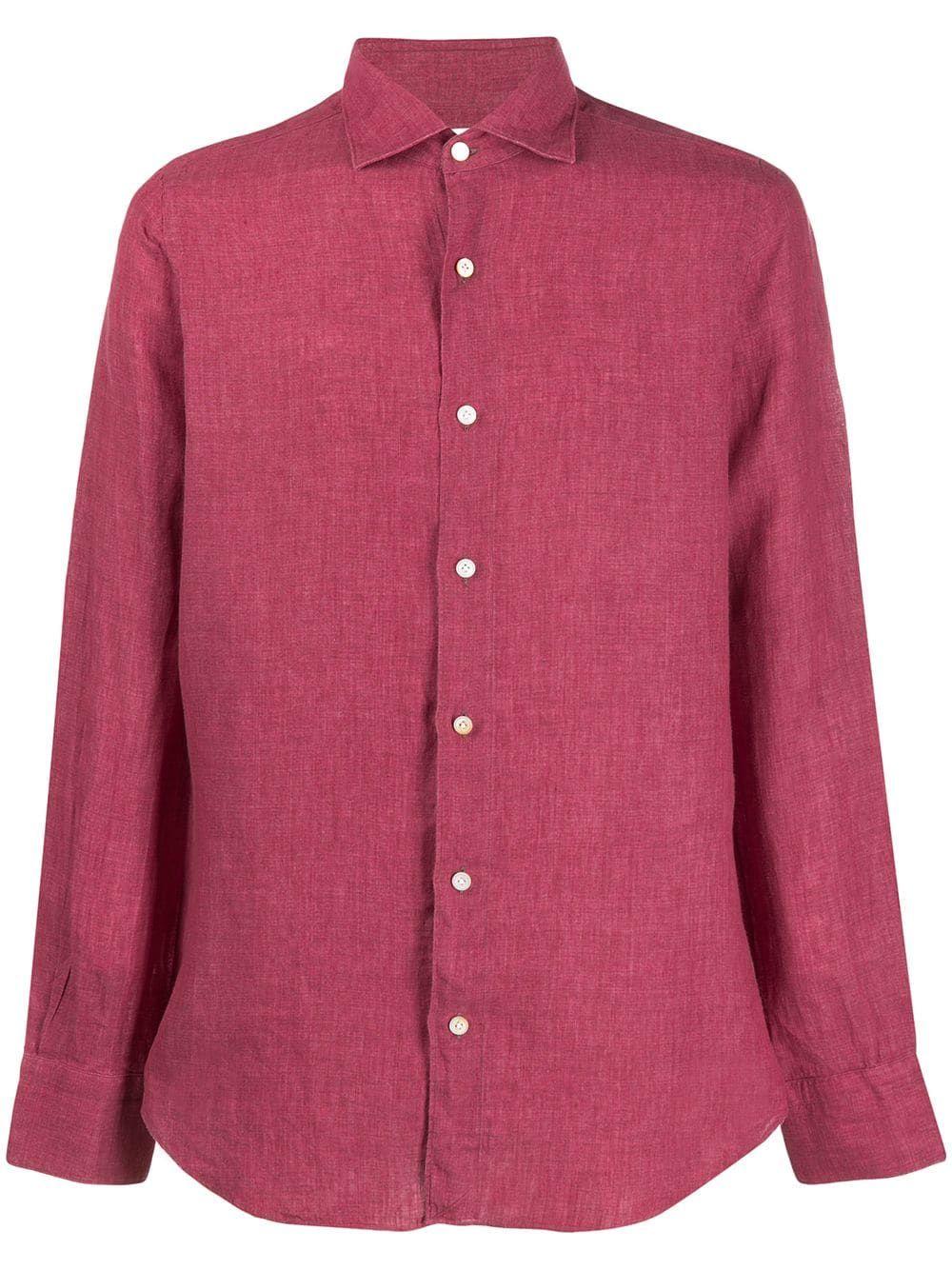 2f34082e55 FINAMORE 1925 NAPOLI FINAMORE 1925 NAPOLI TOKYO SHIRT - RED.   finamore1925napoli  cloth
