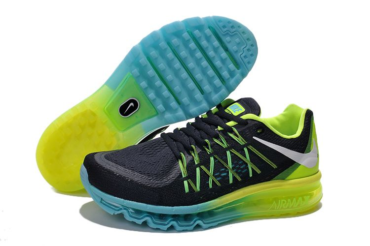 best website f8713 21de8 Men Nike Air Max 2015 Black Blue Yellow