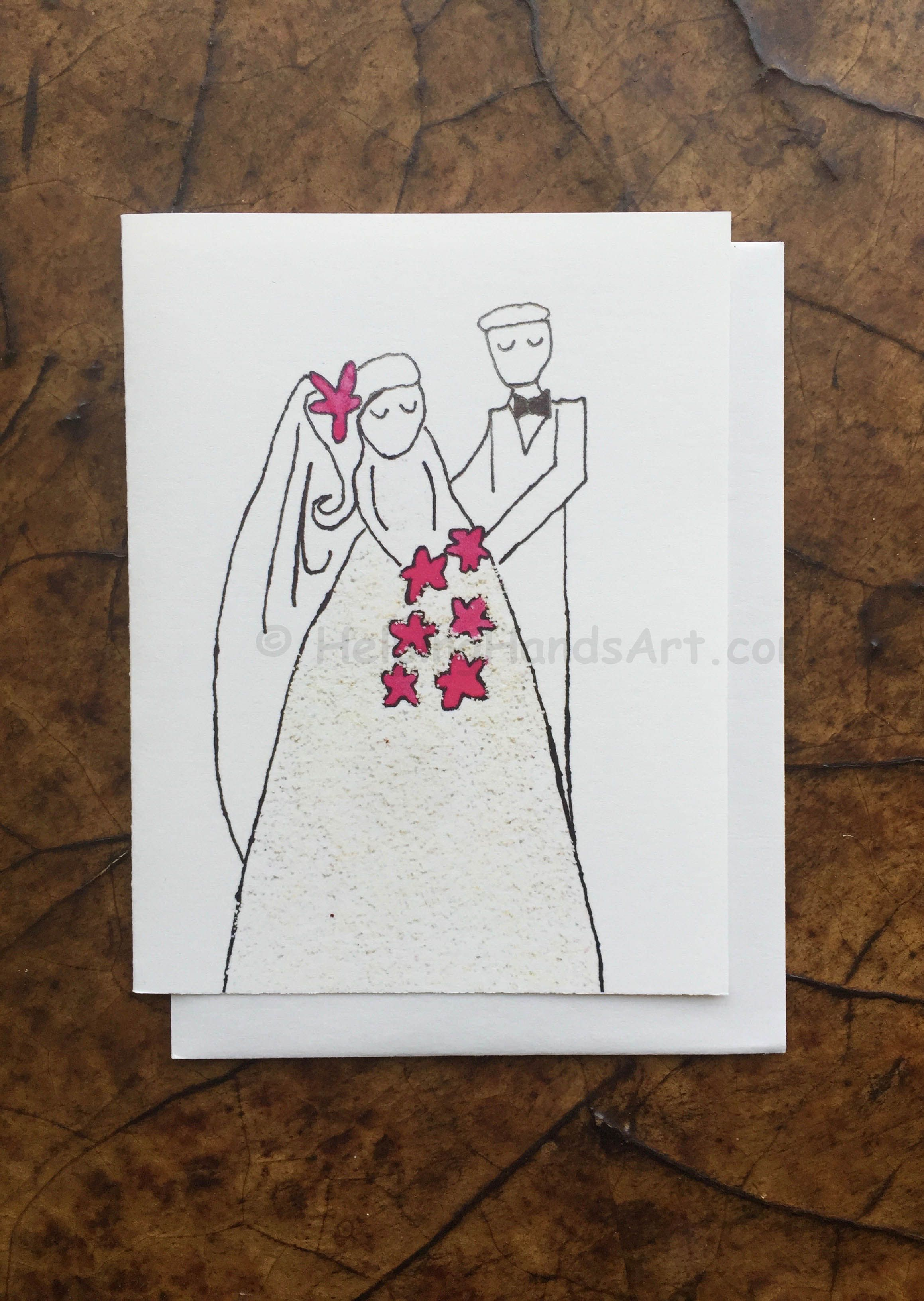 Bride And Groom Wedding Card Created By Adult Artist With Autism