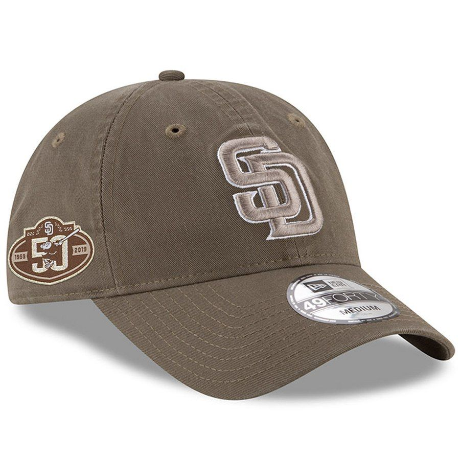 new product d332f fc046 Men s San Diego Padres New Era Brown 50th Anniversary Core Fit Replica  49FORTY Fitted Hat, Your Price   31.99