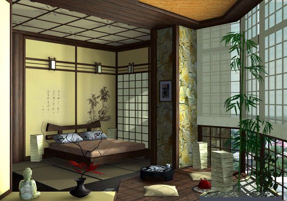 Traditional Japanese Bedroom Offering A Zen Atmosphere Japanese