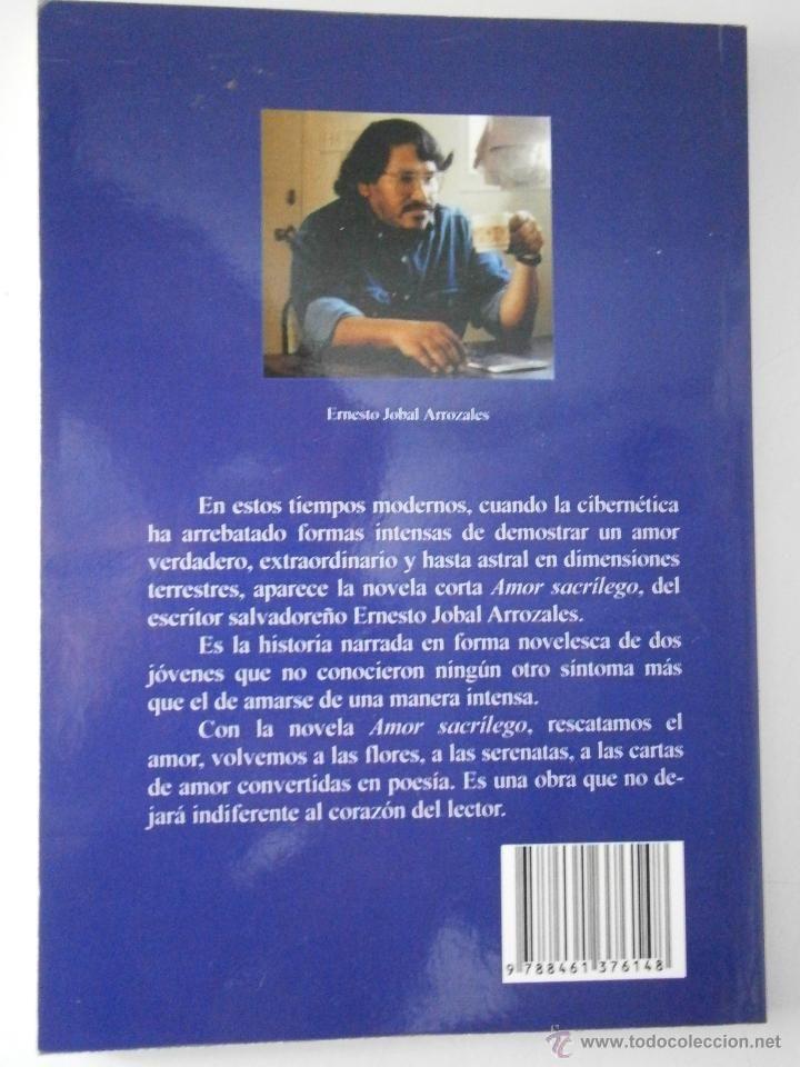 MALDITO AMOR SACRÍLEGO. JOBAL ARROZALES, ERNESTO. EDICIONES ALBORES 1º edicion 2010 Sevilla - Foto 3