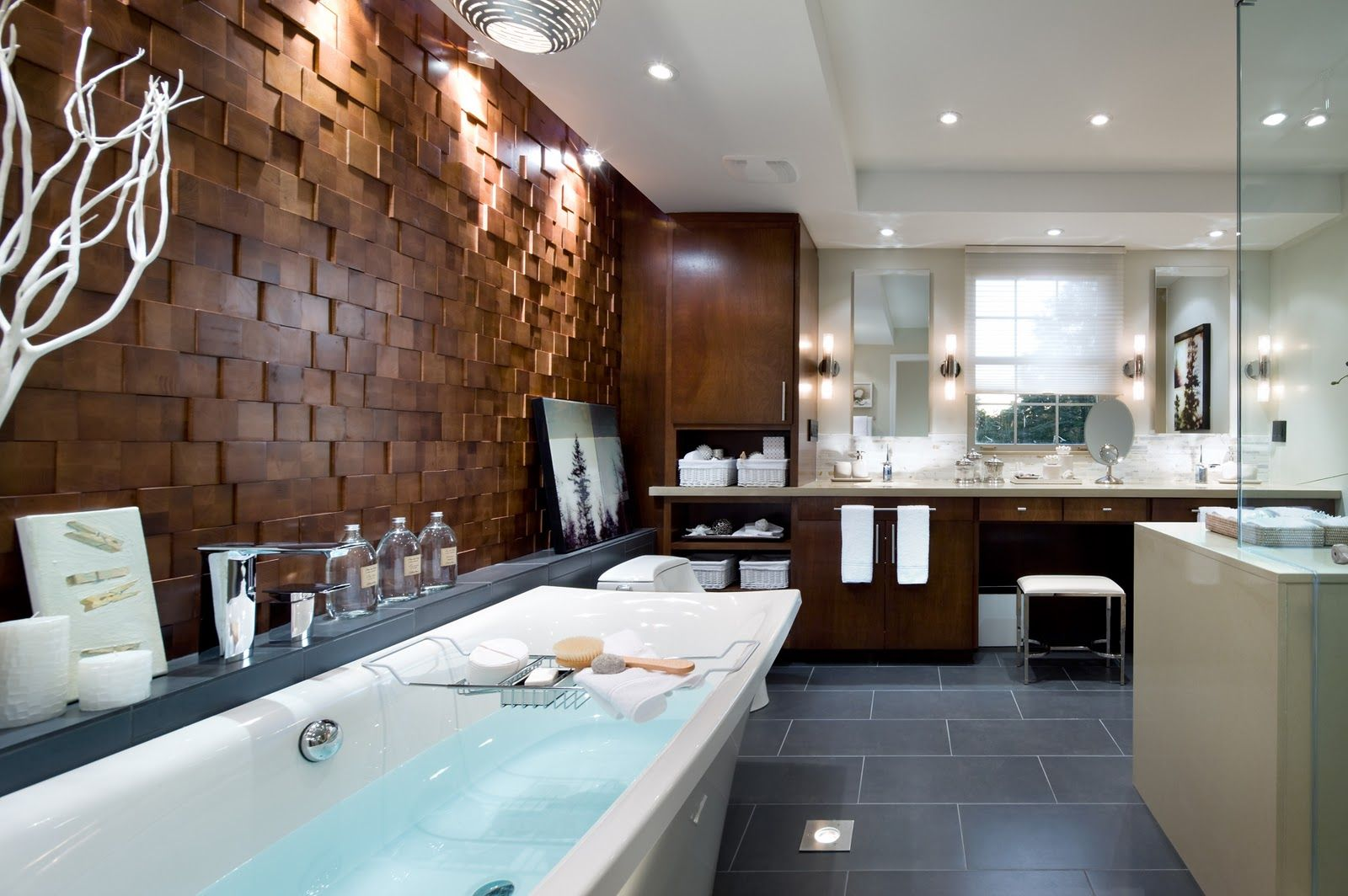 Bathroom By Candice Olson Look At That Amazing Wood Detailing - Candice olson living room gallery designs