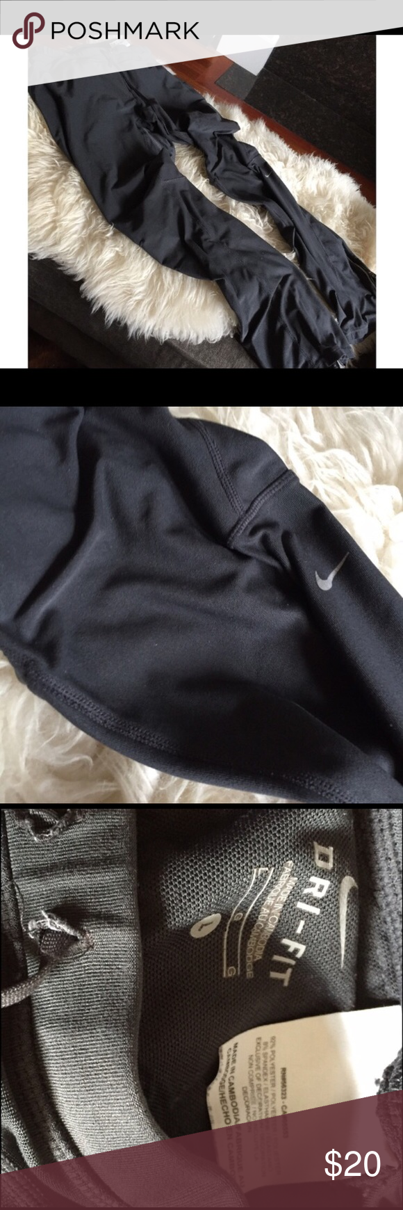 Nike Grey Women's Athletic Pants with Ankle Zipper Nike Grey Women's Athletic Pants with Ankle Zipper...Super comfy! Slightly worn, perfect for working out in the cold since these pants are long, they also make your butt look good! Nike Pants Track Pants & Joggers