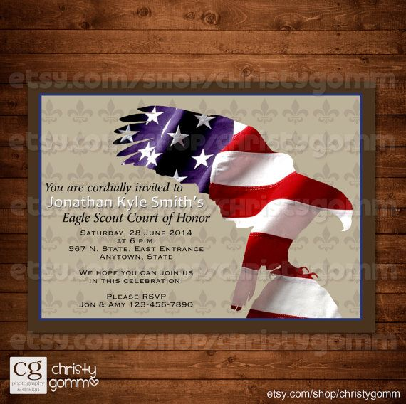 Eagle Scout Court Of Honor Invitation Card By Christygomm