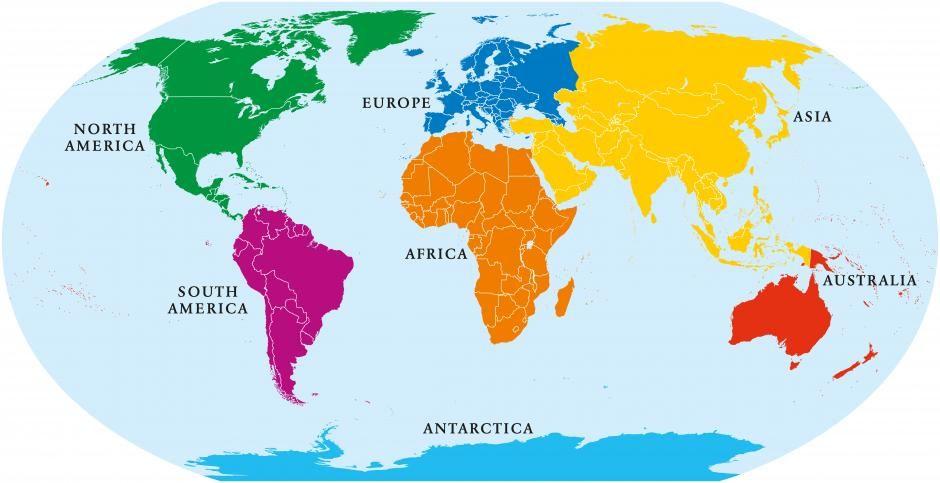 Kontinenter Hvor Mange Definition Kontinent Naturvidenskab Verden