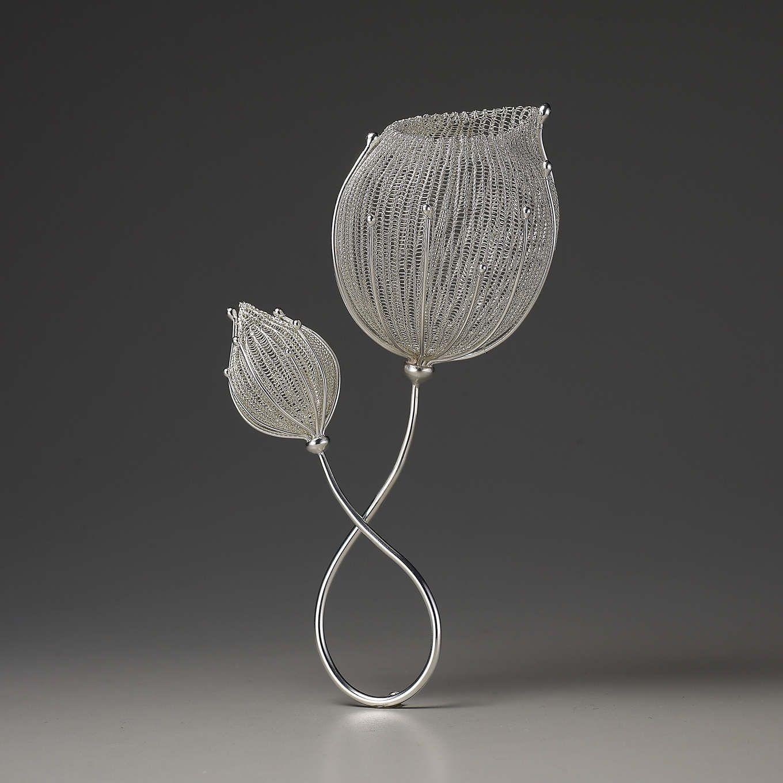 Brooch Sterling silver  Crochet  Sowon joo