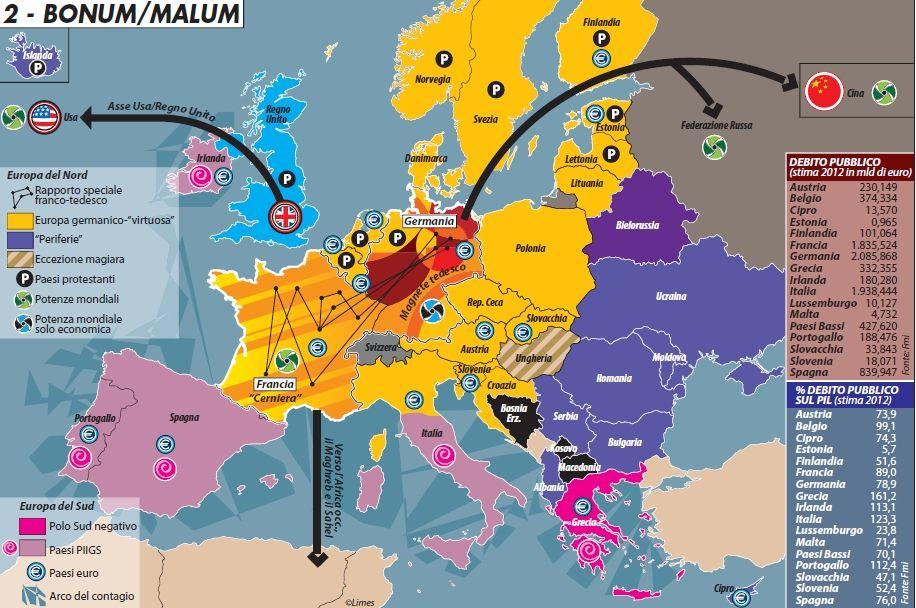 Gli Arcani Supremi (Vox clamantis in deserto - Gothian): Mappa della crisi dell'Unione Europea
