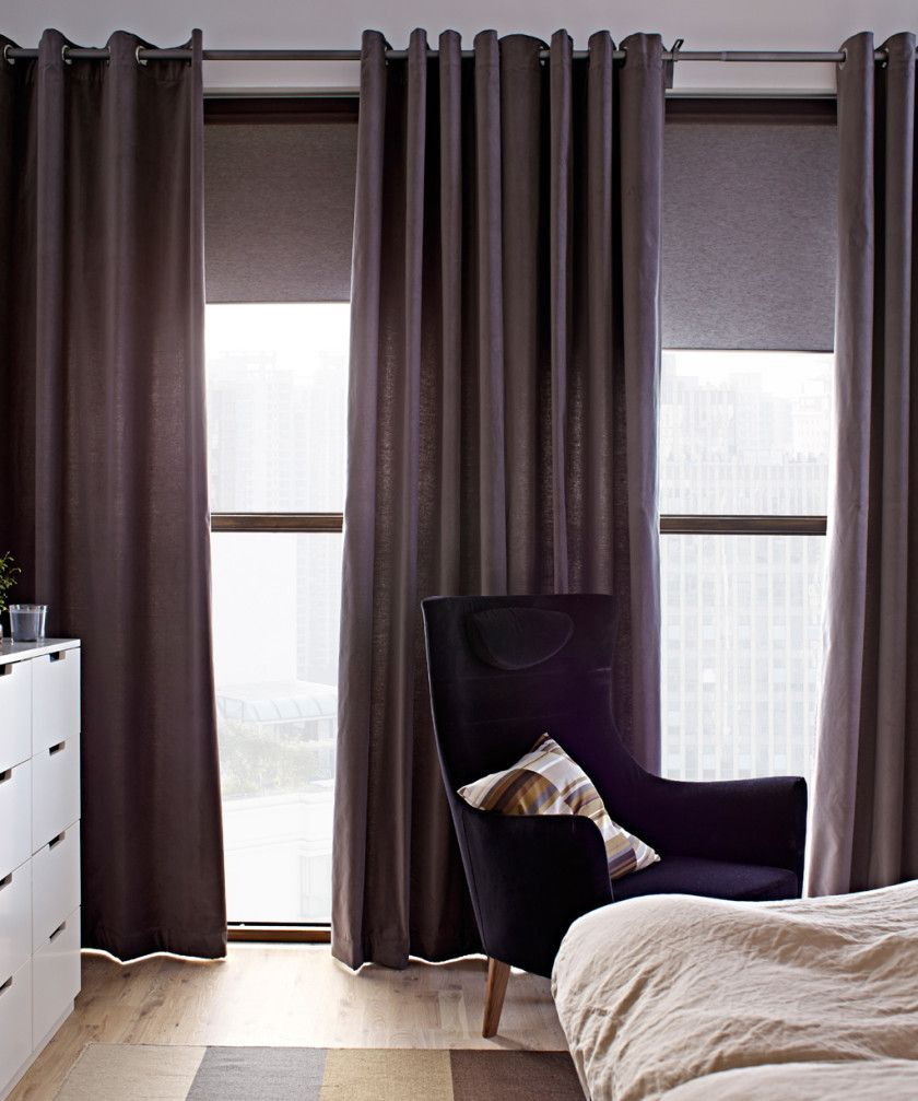 Bedroom Decorating Ideas Ikea Dark Purple Accent Wall Bedroom Interior Design Small Bedroom For Kids Cowhide Bedroom Bench: *Curtains Enticing IKEA Brown Sanella Bedroom Window