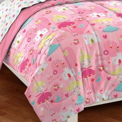 Amazon.com - Pretty Princess Ultra Soft Microfiber Girls Comforter Set - Childrens Bedding Collections