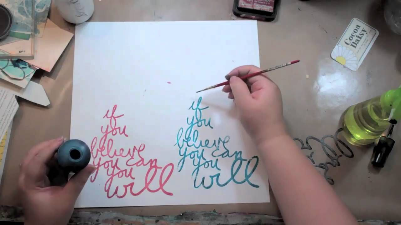 Stamping With a Stencil