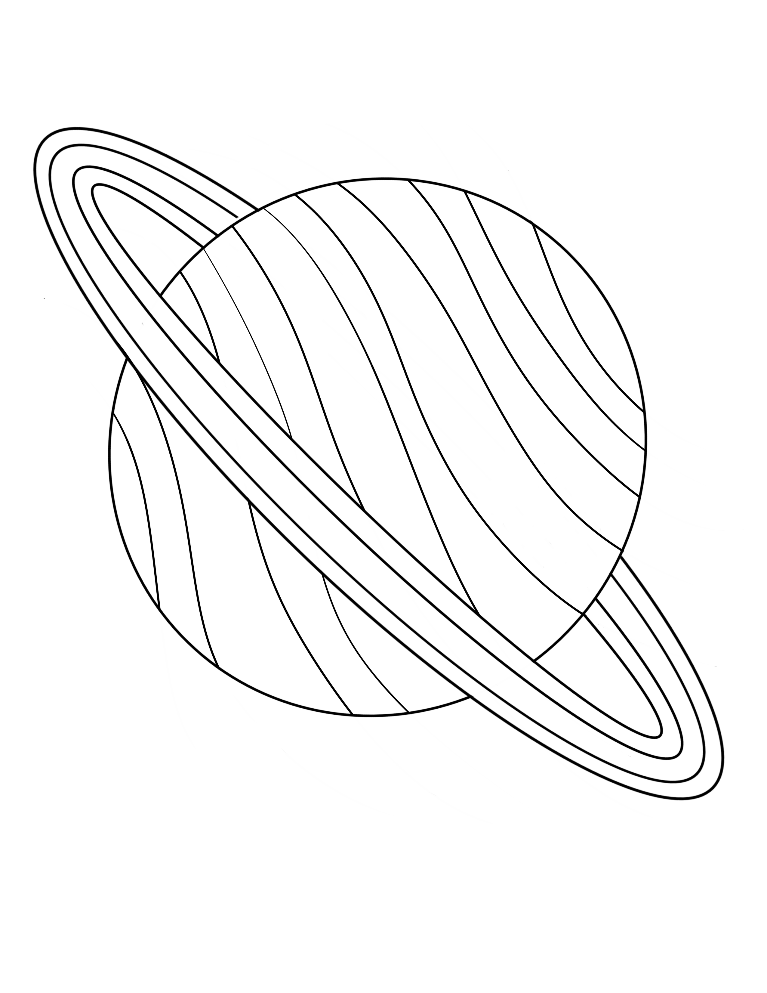 Saturn Coloring Page In