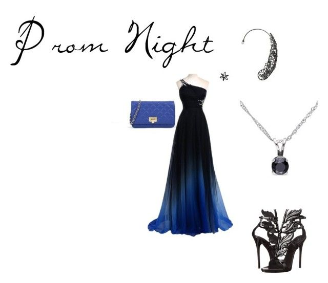 """""""Blue with the prom"""" by lovethecountry ❤ liked on Polyvore featuring CHARLES & KEITH, Giuseppe Zanotti and Miadora"""