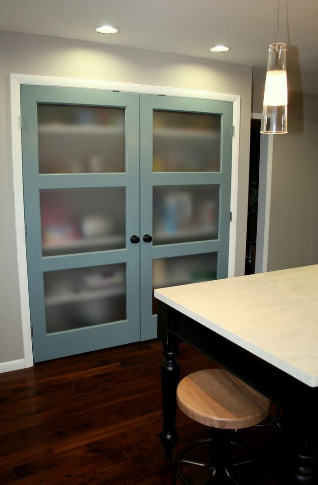 pantry doors...Do 1. Like the idea of painting the door a ...