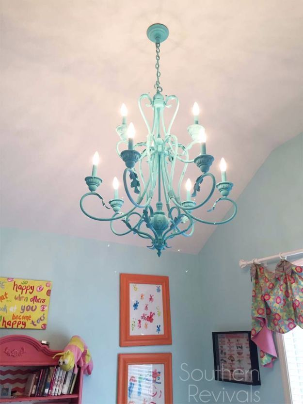 DIY Chandelier Makeovers Hand Painted Chandelier