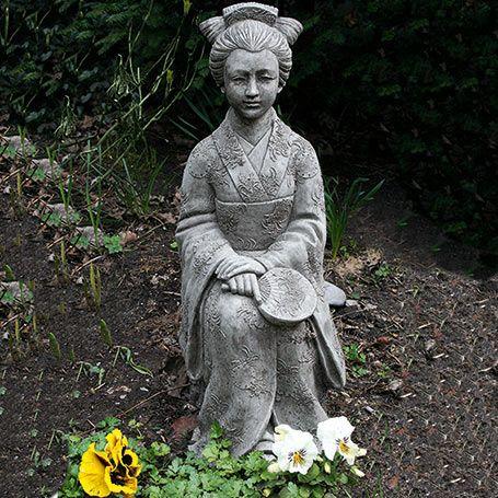 Garten Steinfigur Geisha Buddhas Asiatische Figuren Steinfiguren Figur Geisha