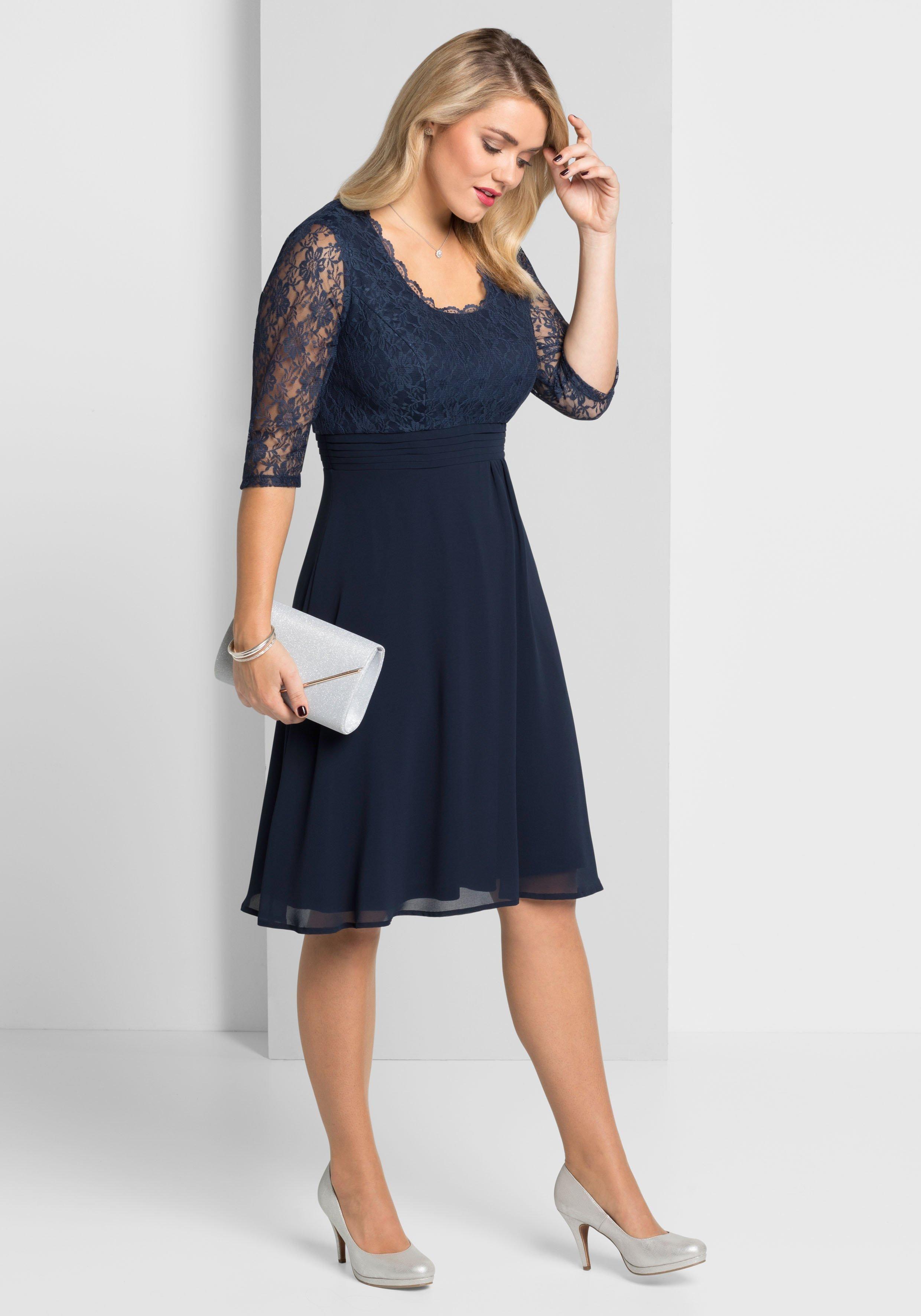 Sheego Abendkleid online kaufen  BAUR  Abendkleid, Kleider