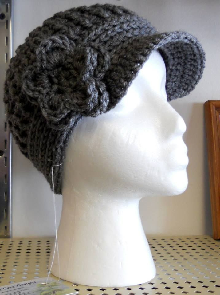 Hand crochet Newsboy hat. Fits average teen /adult. $20.00 ...