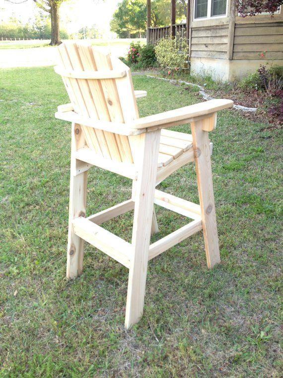 Great Handmade Wooden Coaches Chair Perfect On Your Deck