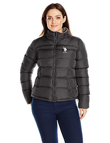 5e545920ab7 US Polo Assn Juniors PlusSize Short Puffer Jacket In Plus Sizes Black 2X      To view further for this item