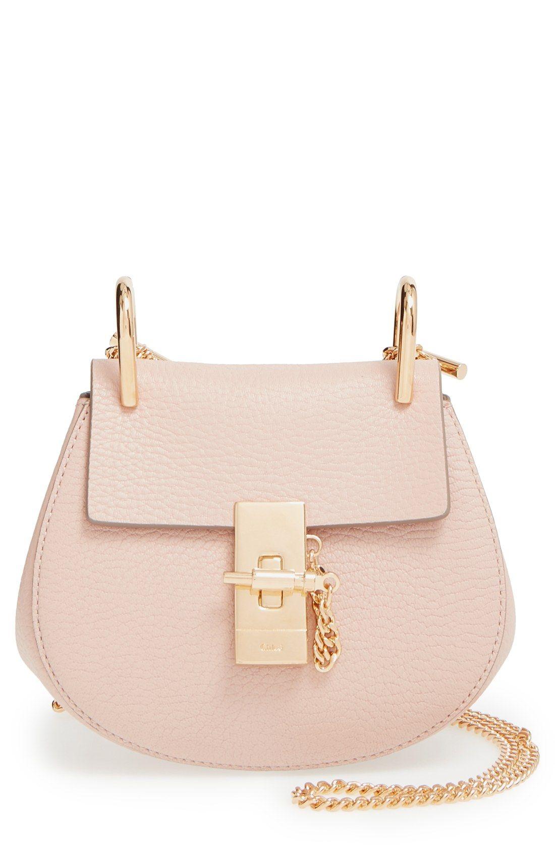 Chloé  Nano Drew  Lambskin Leather Shoulder Bag  99fdaa65b