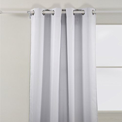Deconovo Bedroom Oxford Thermal Insulated Curtains With Backside Silver Backing To Reflect Sunlights 52 W X 95