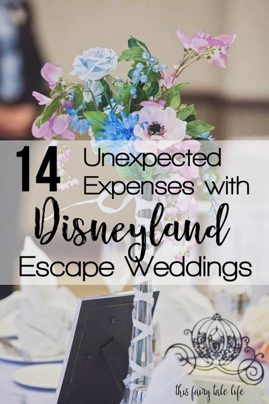 Disney Wedding Advice 14 Unexpected Expenses With Disneyland Escape Weddings