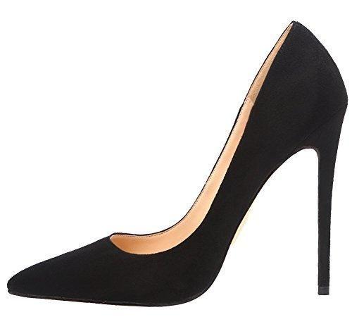 47de7a1f3f1 MONICOCO Women's Stiletto Heel Plus Size Shoes Pointed Toe Pump for ...