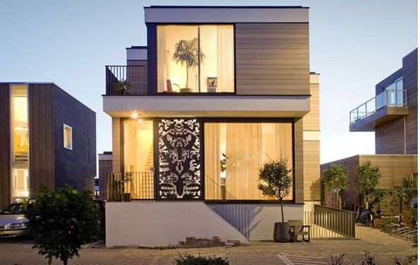 Small house front view design house of samples
