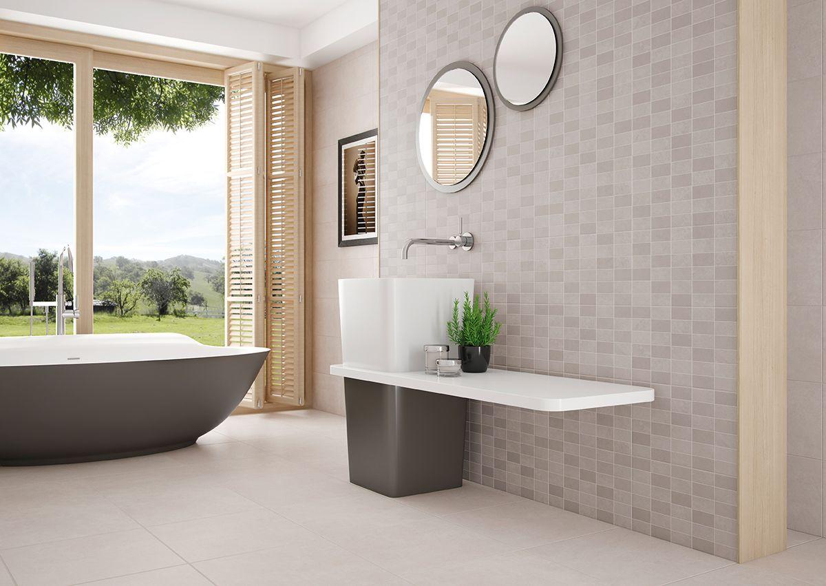 Tile Decoration Foster Collection Soft Concrete#walltile #floortile #tile