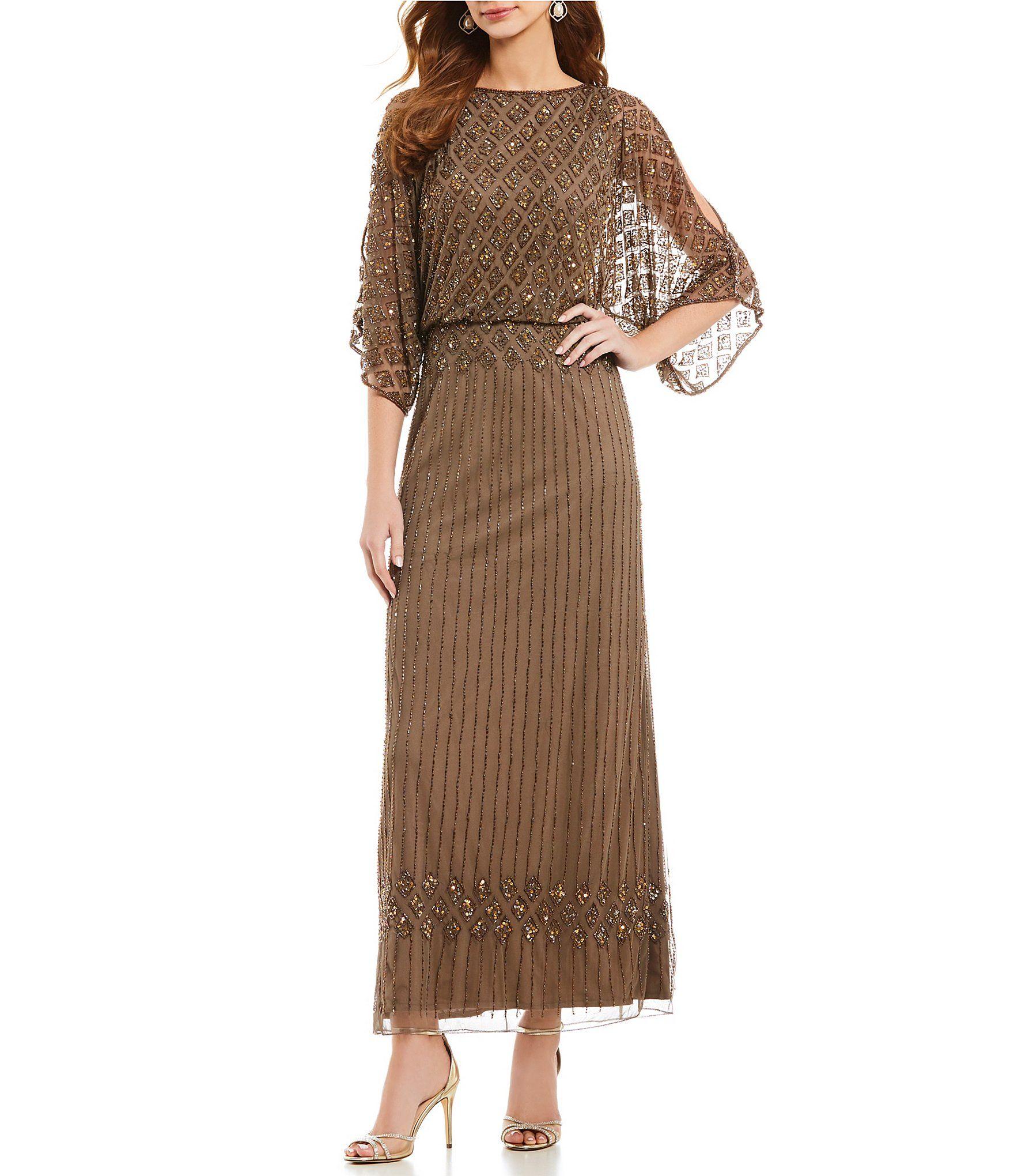 Wedding dresses dillards  Pisarro Nights Beaded Bodice Blouson Gown  Fashion  Pinterest