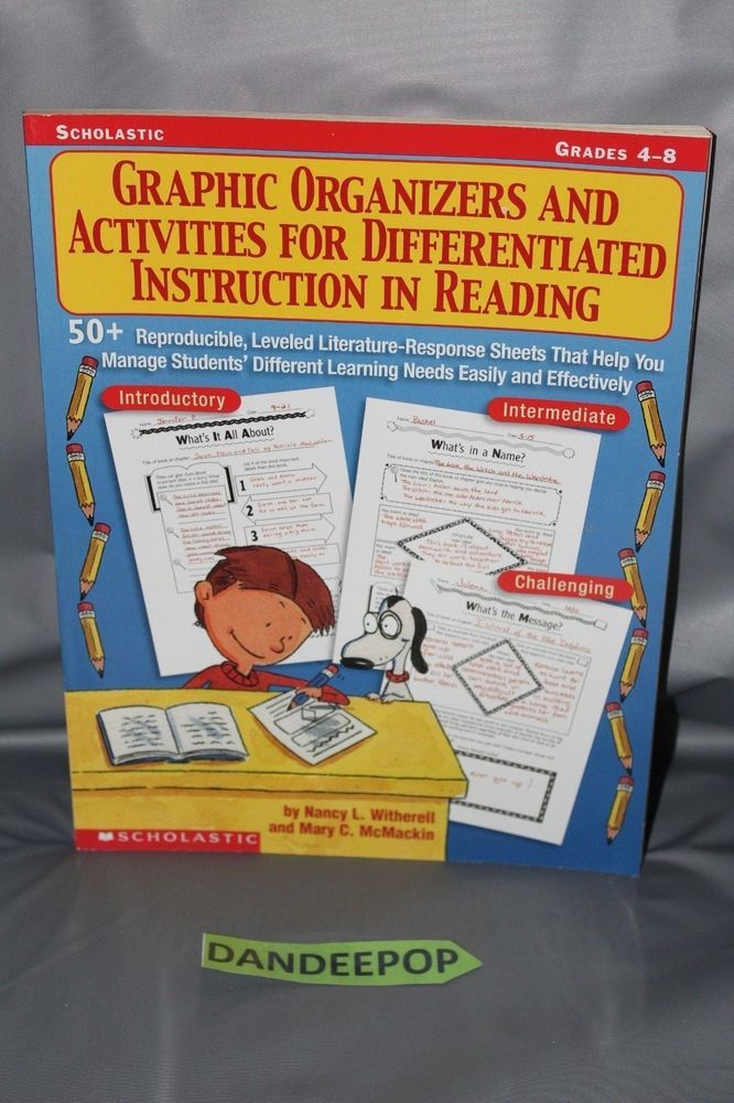 Details About Graphic Organizers And Activities For Differentiated
