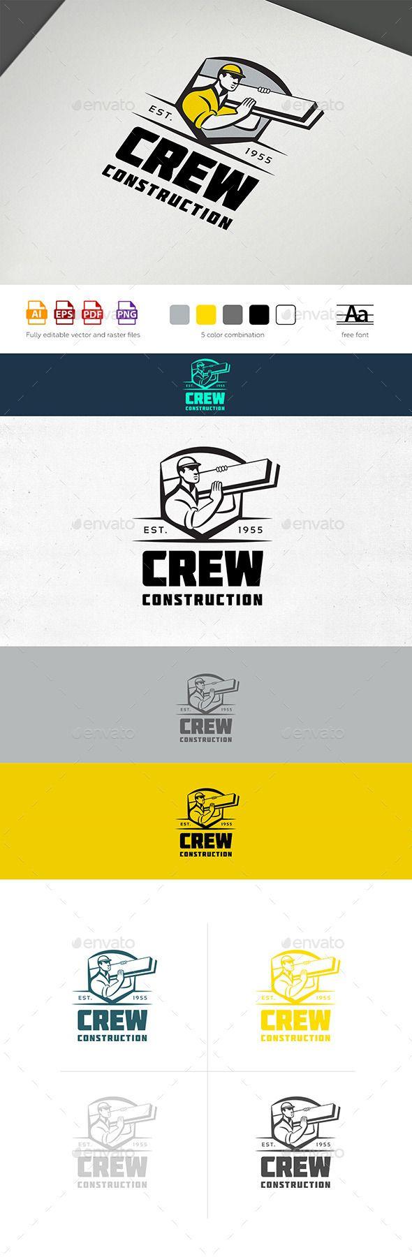 Construction Crew Logo | Tarjetas presentacion, Mantenimiento y ...