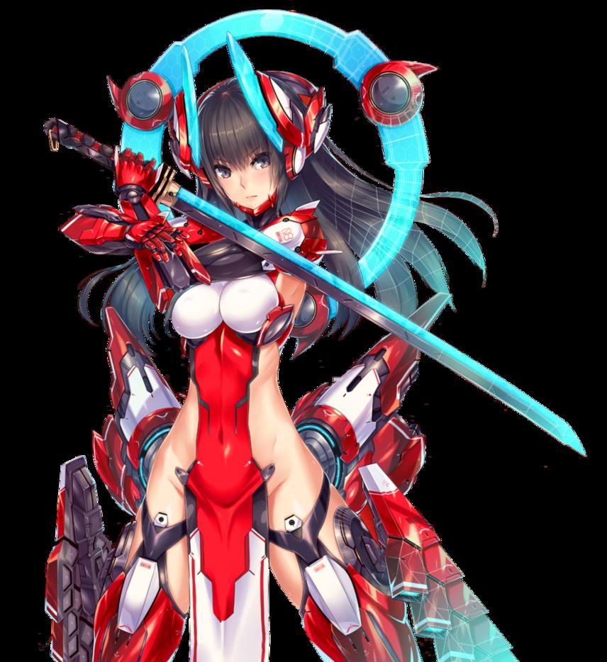 Anime Girls in Mech Armor  Mecha Girl (Lightning Bolt) [RENDER