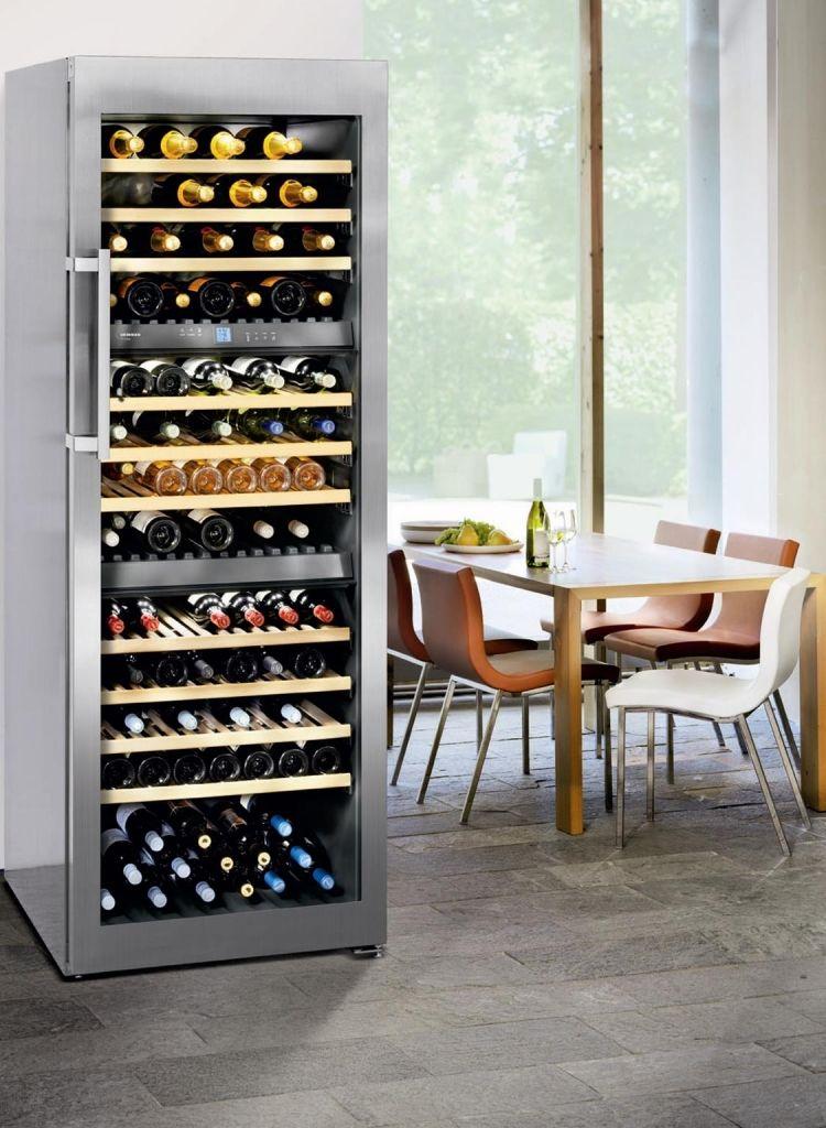 Adega de piso e embutir WS 17800 em inox, com 3 zonas de temperatura para 178 garrafas, 192 cm X 70 cm X 74,2 cm (A x L x P). #LIEBHERR #ADEGA #VINHOS