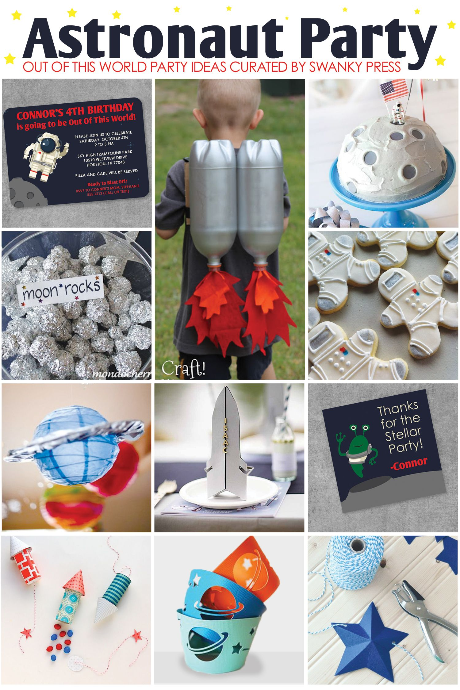 Astronaut in Space Party Inspiration | Birthday Party ...