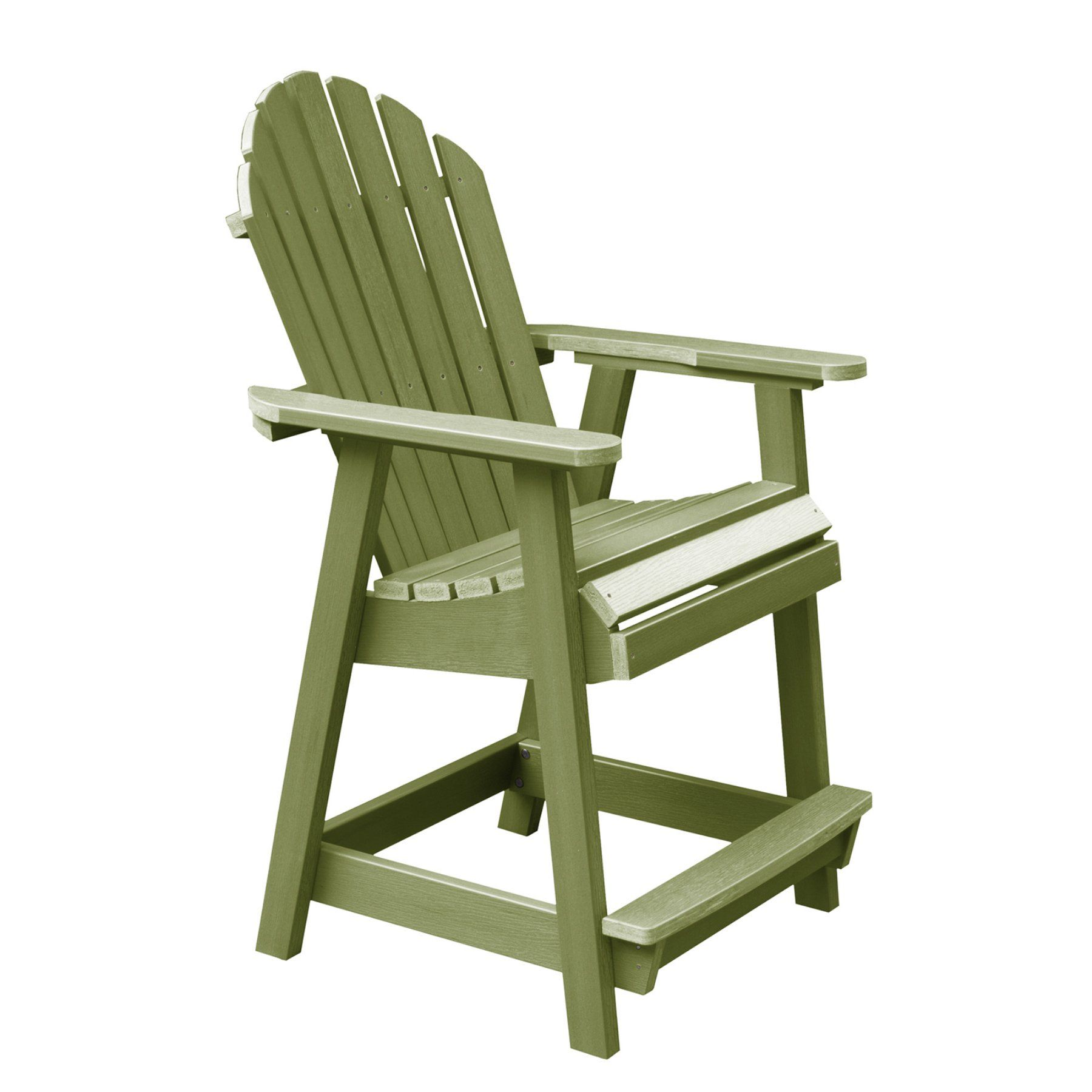 Outdoor Highwood Usa Hamilton Recycled Plastic Counter Height Adirondack Deck