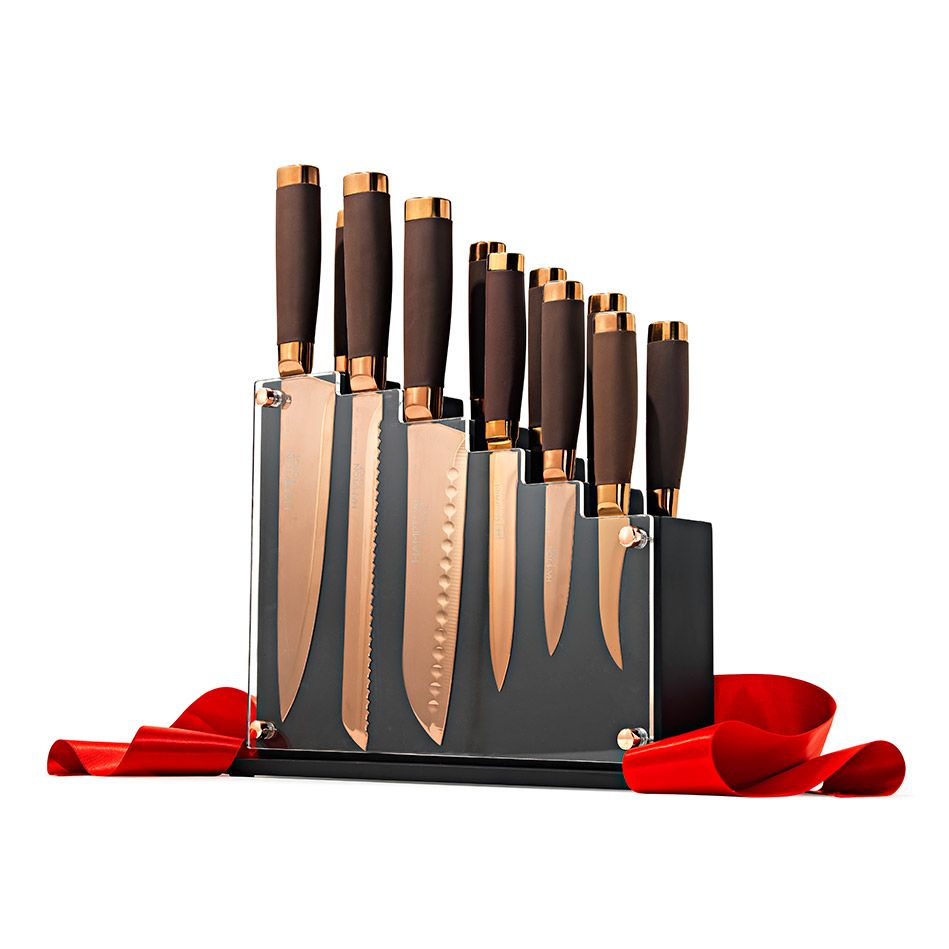 Rose Gold Kitchen Knife Set