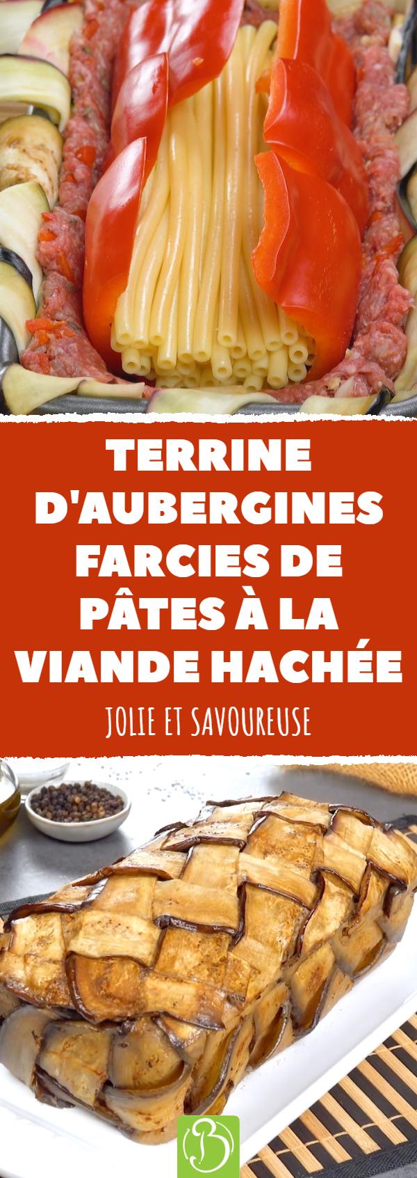 La recette suivante qui rappelle une terrine sauf que pour remplacer la couche de pâte nous utilisons des aubergines tressées la garniture est constitu&eacut...