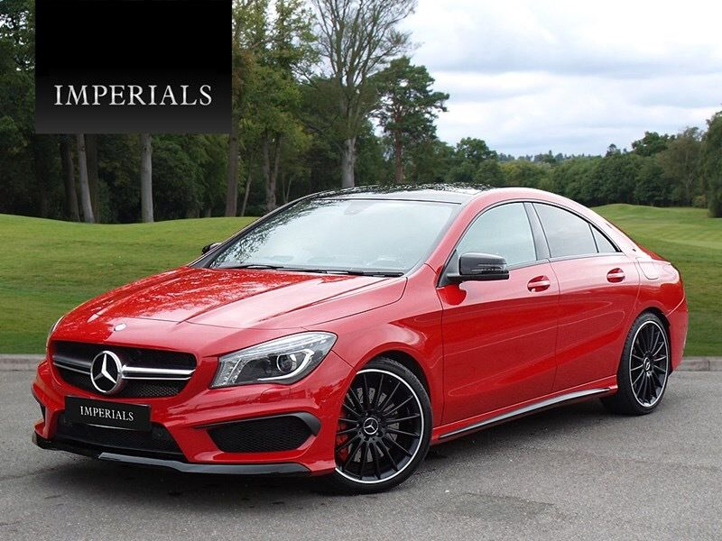 Our Jupiter Red Mercedes Cla45 Amg Now In Stock Only 11 000 Miles